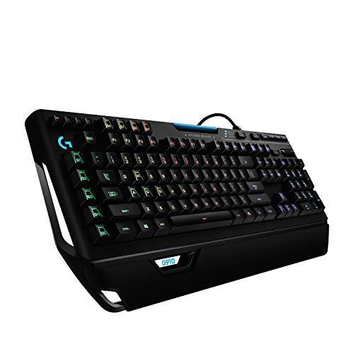 Logitech G910 Orion Spectrum, Clavier Gaming Mécanique RVB, Eclairage RVB LIGHTSYNC, Switchs Romer-G Tactiles, 9 Touches G Programmables, Technologie Double Ecran Arx, Clavier Français AZERTY