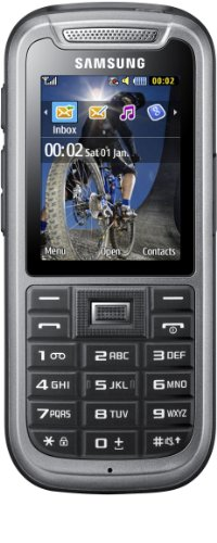 Samsung C3350  Handy (5,6 cm (2,2 Zoll) Display, 2 Megapixel Kamera) steel-gray
