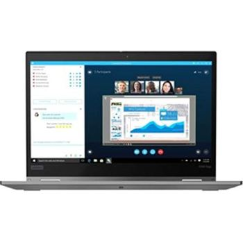 "Lenovo ThinkPad X390 Yoga 20NN0010US 13.3"" Touchscreen 2 in 1 Notebook - 1920 X 1080 - Core i7 i7-8565U - 16 GB RAM - 512 GB SSD - Silver - Windows 10 Pro 64-bit - Intel UHD Graphics 620 - in-PLA"