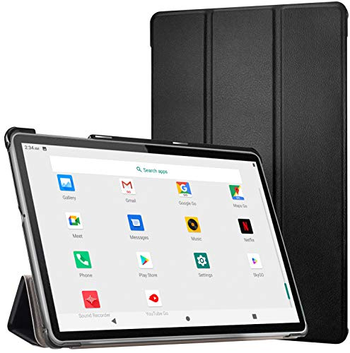 Tablet 10 Pollici -4G LTE +Dual Sim Carta+ WIFI con 10.1'' IPS, Android 10, 4GB RAM + 64GB ROM, Octa-Core, adatto alla DAD/Meet/Bluetooth/GPS/OTG,Suono Stereo con Doppio Altoparlante Nero