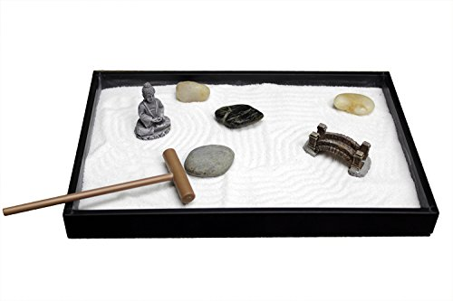 Nature's Mark, Mini Meditation Zen Garden Table Décor Kit with...