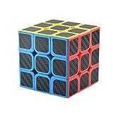 Professional Speed Magic Cube Carbon Fibre Stickers 3x3, Black