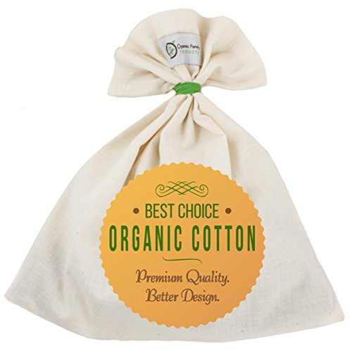 Organic Cotton Nut Milk Bag - Super Smooth Almond Milk Maker - No Seam...