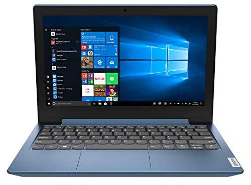 Lenovo IdeaPad 1 - Ordenador portátil 11.6' HD (Intel Celeron N4020, 4GB RAM, 64GB eMMC, Intel UHD Graphics 600, Windows 10 Home en modo S), Color Azul - Teclado QWERTY Español