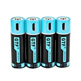 Rechargeable AA Batteries, 1500mAh Micro USB Charge, 1.5Hours Charging Fast Rechargeable Lithium Batteries, 1000 Cycle (4 Pack)