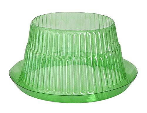 Windhager Schneckenabwehr Schutzring, zur Abwehr von Schnecken - schützt Pflanzen vor Tierfraß, Ø 23 cm, 6 stück, grün, 02435