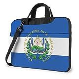 Escudo de Armas de El Salvador Bolso para computadora portátil Bolso Bandolera Bolso para computadora Maletín Bolso Bandolera Inclinado 15.6 Pulgadas