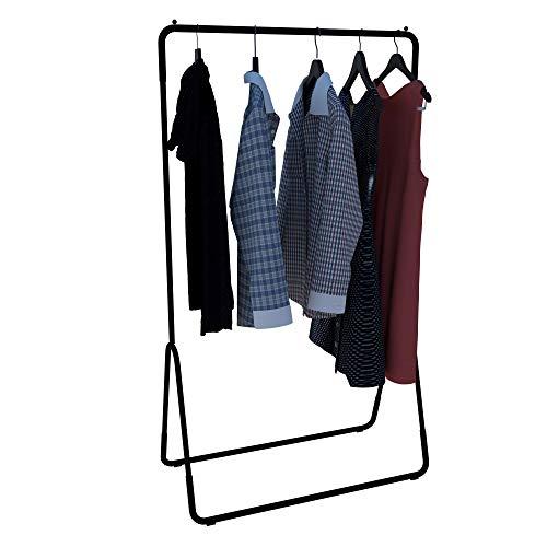 Dicarlo Dismountable Steel Floor Clothes Rack (Black)