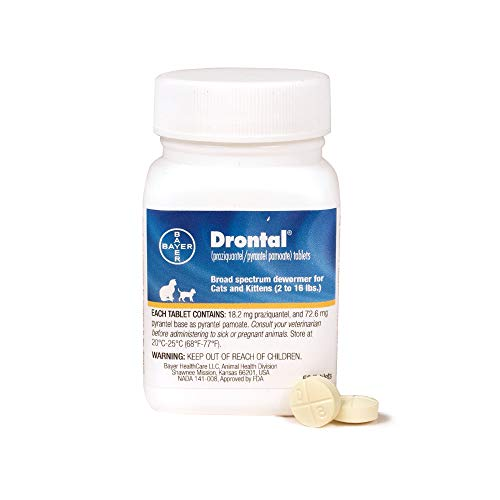 Drontal Broad Spectrum Dewormer, 50 Tablets