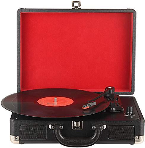 DIGITNOW! Platine Vinyle Retro Convertisseur Port USB 33/45/78 RPM avec Haut-parleurs intégrés, Tourne-Disque Vinyle à MP3 Codage Fonction