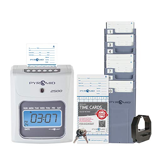 Pyramid Time Systems 2500 Small Business Time Clock Bundle...