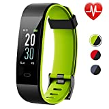 Lintelek Fitness Tracker HR, Updated Version Activity Tracker Color Screen, IP68 Waterproof Fit Watch with...