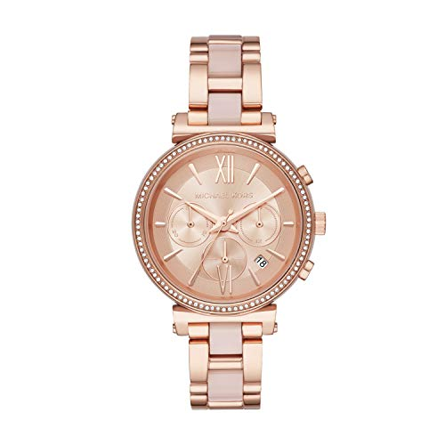 Michael Kors Damen Chronograph Quarz Uhr mit Edelstahl Armband MK6560