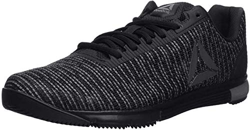 Reebok Men's Speed TR Flexweave Cross Trainer, Black/Shark/Black, 9 M US