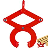 BestEquip 2T Pallet Puller Steel Single Scissor Red Pallet Puller Clamp 4409 LBS Capacity Pallet Grabber 6.3 Inch Jaw Opening x 0.5 Inch Jaw Height arbitrarily Changed to Adjust The use