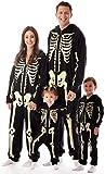 #followme Glow in The Dark Skeleton Girls Jumpsuit Pajamas 6540-4