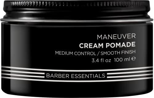 Redken Brews Cream Pomade For Men, Medium Hold, Natural Finish 3.4...
