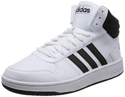 adidas Herren Hoops 2.0 Mid Fitnessschuhe, Weiß (Ftwbla/Negbás/Negbás 000), 46 EU