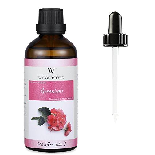 Wasserstein - Aceite esencial de geranio de grado terapéutico 120 ml (4 oz), 100% puro y natural – de Wasserstein