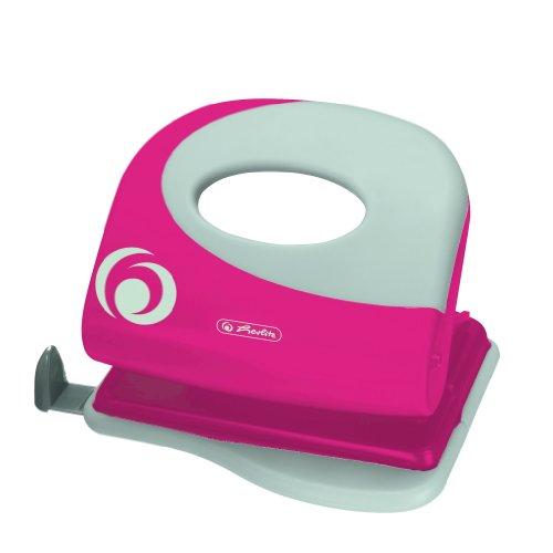 Herlitz Bürolocher, 2.0 mm, Ergonomie mit Anschlagschiene, cool pink
