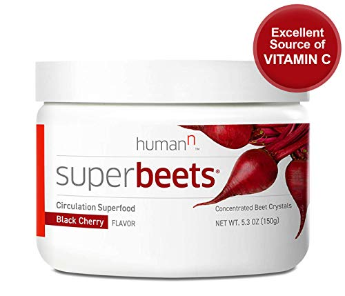 humanN SuperBeets - Circulation Superfood, Concentrated Beet Crystals, Nitric Oxide Boosting Supplement, Vitamin C, Beets Grown in USA, Black Cherry Flavor, 5.3 ounces 2