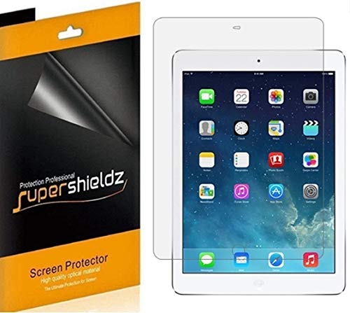 (4 Pack) Supershieldz Designed for Apple iPad Air 2 Screen Protector, High Definition Clear Shield (PET)