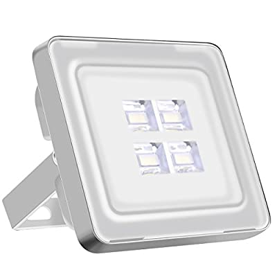 INNOVATIVE EXTERIOR DESIGN : The outdoor floodlight has soft ray and not dazzling, with thinner and lighter design, save more energy and protect environment. Mask adopts superior optical lens of strong transmittance and hard scrub pc material, lets t...