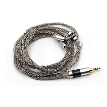 Linsoul Tripowin Zonie 16 Core Silver Plated Cable SPC Earphone Cable for KZ ZSX, ZSN Pro, ZS10 Pro NF2u, QDC IEMs (QDC-3.5mm, Grey)