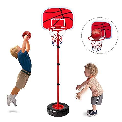 Happytime Stand Wall 2-in-1 Basketball Set Kids Stand Adjust Hoop &...