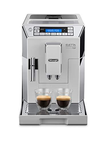 De'Longhi ECAM 45.760.W Eletta Cappuccino Macchina da caffè Automatica, 1450 W, 15 Bar, 2 Cups, Acciaio e plastica, Argento, Bianco