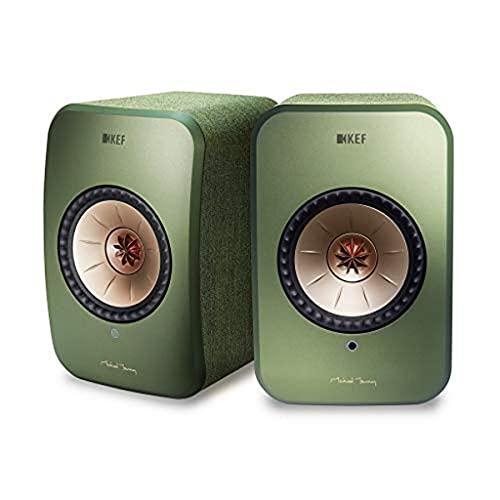 KEF LSX WLAN Lautsprecher Grün, Aktivlautsprecher, Airplay 2 | Musikstreaming | Multiroom | Bluetooth | Spotify | Tidal | Roon