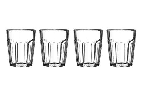 Premier Housewares 1206283 Set 4 Bicchierini in Plastica, Trasparente