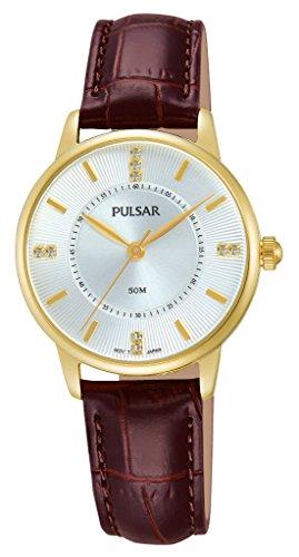 Pulsar Uhren Damen-Armbanduhr Klassik Analog Quarz Edelstahl beschichtet PC3252X9