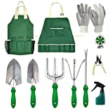 GardenHOME Garden Tool Set - 11Pcs Garden Hand Tool Set Equipment with Tote Bag Adjustable and...