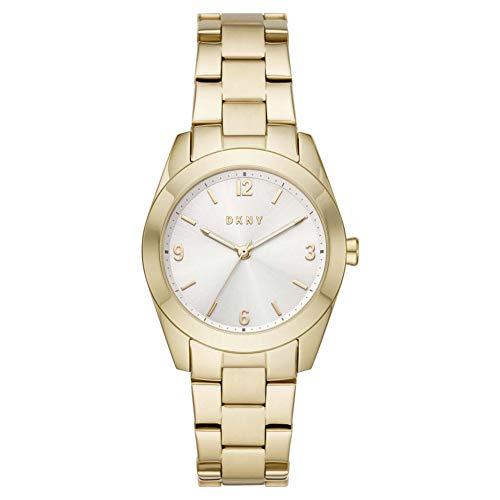 DKNY Damen-Uhren Analog Quarz One Size Gold Edelstahl 87920631