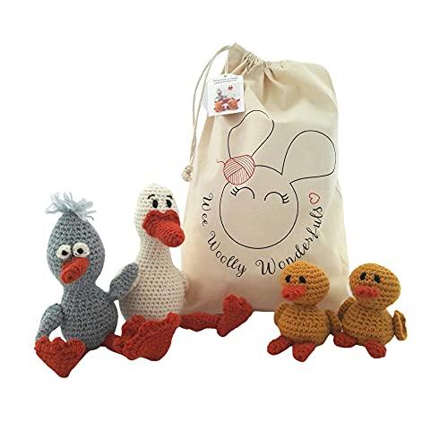 Crochet Kit - Daisy Duck & Family Alpaca Luxury Kit - Amigurumi Pattern