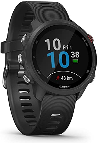 Garmin Forerunner 245 Music, GPS, Wi-Fi, EU AC, Negro/Rojo, L...