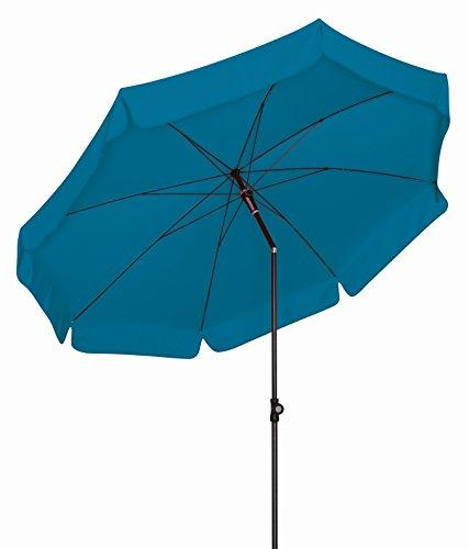 Doppler Absolut wetterfester Gartenschirm Sunline 250 Petrol, UV-Schutz 50 Plus und Knicker,