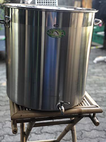 Pentola tuttofare con rubinetto, 50 litri, in acciaio inox, grande capacit, ideale per birra