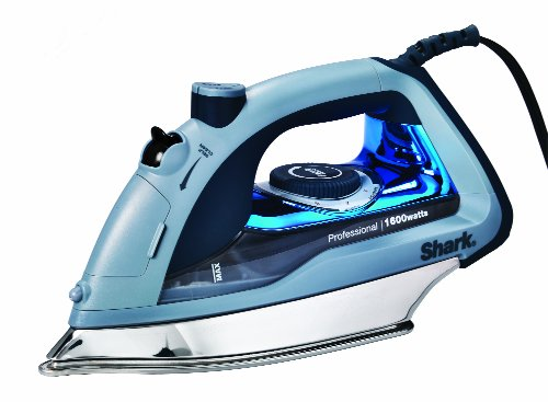Shark Professional, Garment Steamer with Auto-Shut Off and Stainless Steel Soleplate, 1600 Watts Electric Steam Iron (GI405), Blue, 3 Count