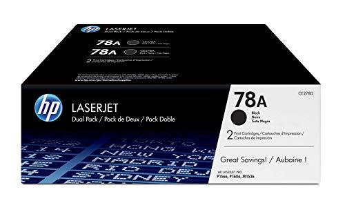 HP 78A   CE278D   2 Toner Cartridges   Black