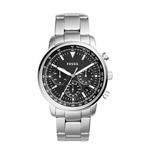 Fossil Herren Analog Quarz Uhr mit Edelstahl Armband FS5412