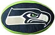 "Features NFL team logo 3D travel cloud pillow; extremely soft, super stretchy, and ultra-comfortable Measures 15""L x 2""D Spot clean only Made of 94% Polyester & 6% Spandex; 100% Polyester fill"
