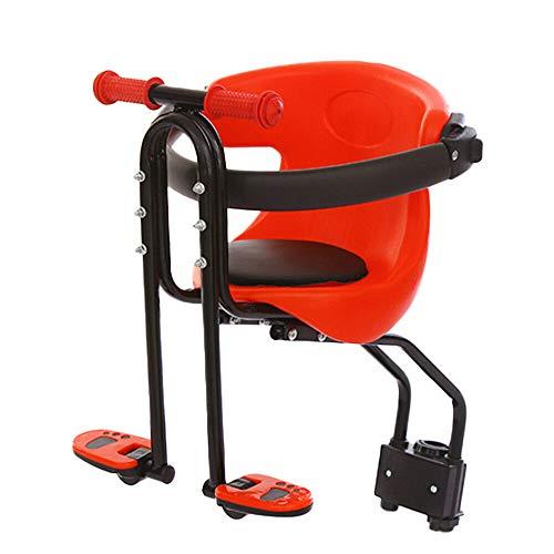 Seggiolino per bicicletta per bambini, sedile anteriore con maniglia, per mountain bike, bici ibride e fitness