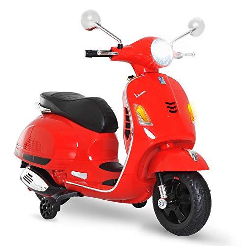 HOMCOM Moto Eléctrica Infantil Coche Triciclo Vespa Scooter...