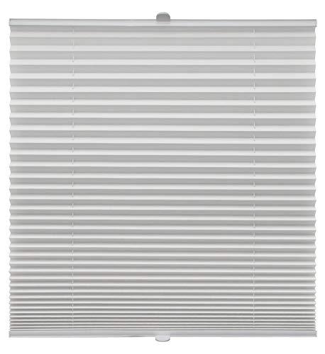 Plissee auf Maß verschiedene Farben für alle Fenster Montage in der Glasleiste Blickdicht mit Spannschuh Sonnenschutzrollo Fensterrollo Plissee Rollo Weiß Breite: 71-80 cm, Höhe: 40-100 cm