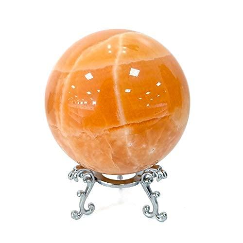 2.3 in Natural Crystal Healing Stones Orange Calcite Sphere...