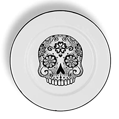 Calavera Design 7.9 in (20cm) Designed Plate, you can use this to give a very unique look to your dinner table or just hang as a decoration Embellish your table, surprise your guests or clients with these unique Peltre designs made by Mexican artist,...