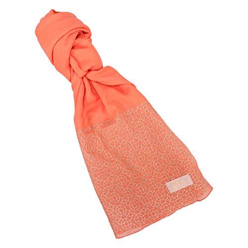 Shruti Bufanda RHS | Geo Coral | 100% algodón