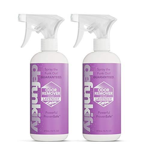 Defunkify Odor Remover Spray, Lavender - Crushes...